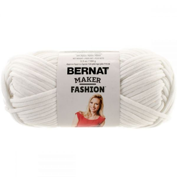 Bernat Maker Fashion Yarn - White