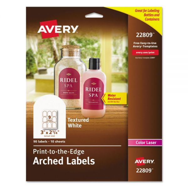 Avery Print To The Edge Arched Labels