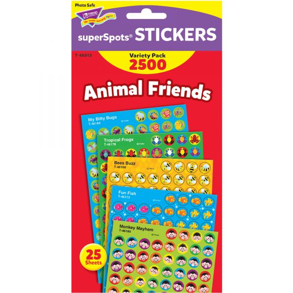 Trend Animal Friends superSpots Stickers Variety Pack