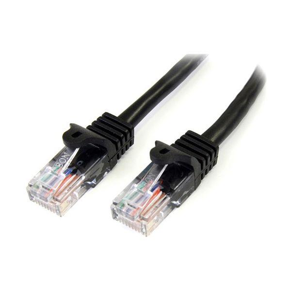 StarTech.com 10 ft Black Cat5e Snagless UTP Patch Cable