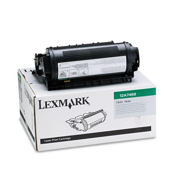 Lexmark 12A7469 Black Extra High Yield Return Program Toner Cartridge