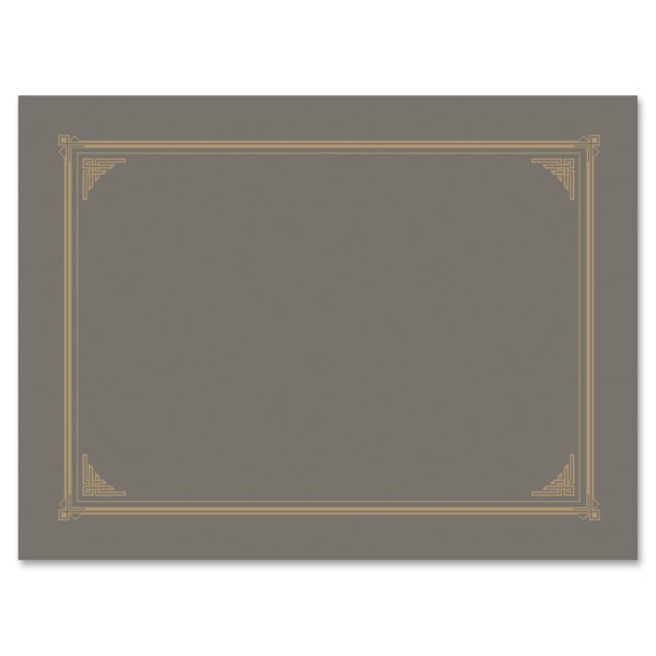 Geographics Gray Linen Document Covers