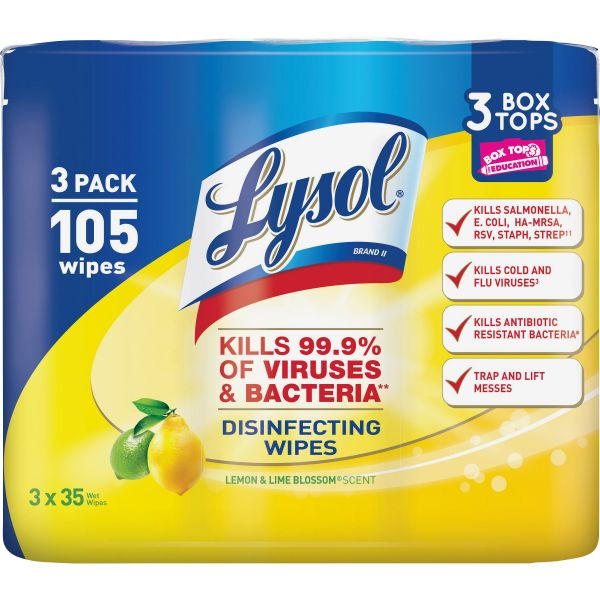 LYSOL Brand Disinfecting Wipes 3 Pack