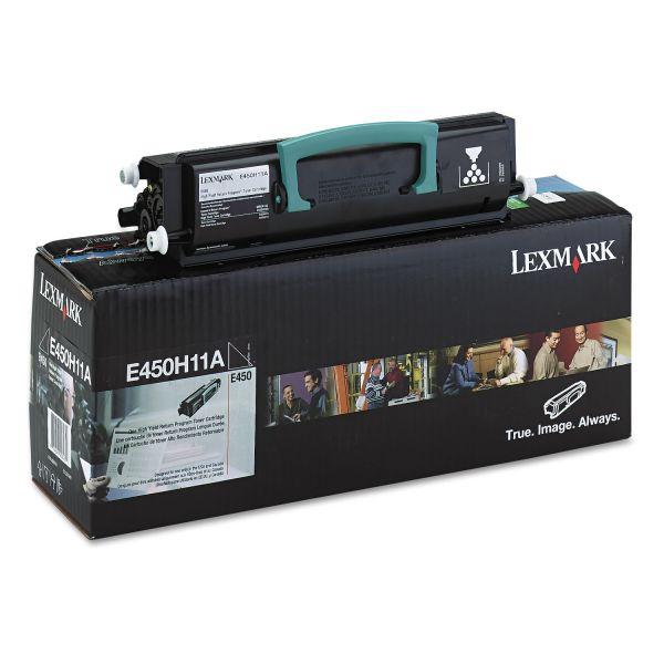 Lexmark E450H11A Toner, 11000 Page-Yield, Black
