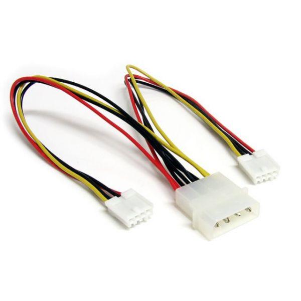 StarTech.com LP4 to 2x SP4 Power Y Splitter Cable M/F