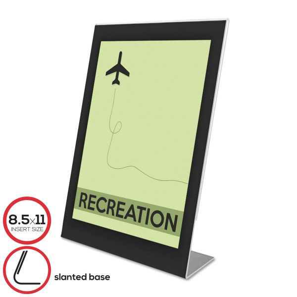 deflecto Superior Image Black Border Sign Holder