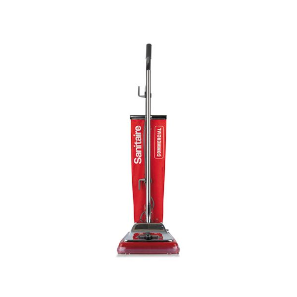 Sanitaire Quick Kleen Commercial Upright Vacuum with Vibra-Groomer II, 17.5lb, Red