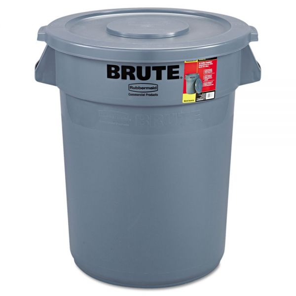 Rubbermaid Brute Multipurpose 32 Gallon Trash Can With Lid