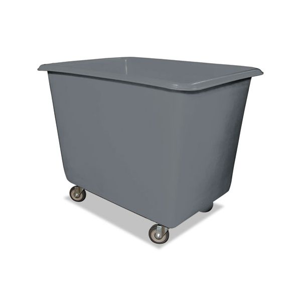 Royal Basket Trucks 16 Bushel Poly Truck w/Galvanized Steel Base, 32 x 44 x 35 1/2, 800lbs Cap, Gray