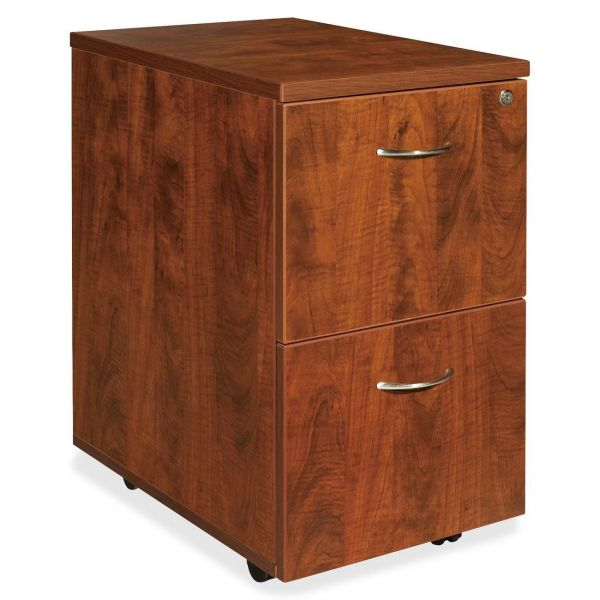 Lorell Essentials 2-Drawer Mobile File Cabinet