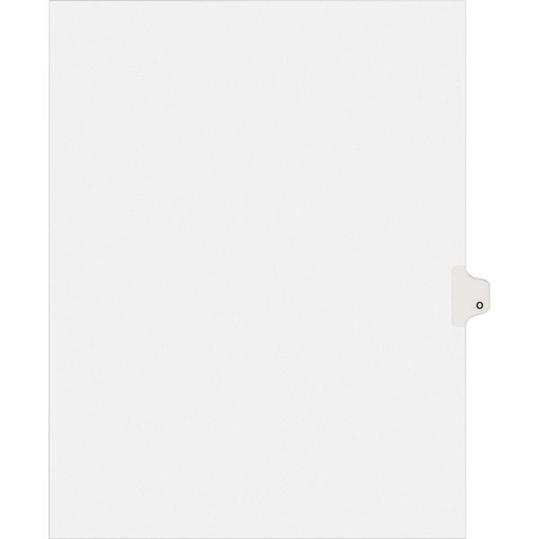 Avery Allstate-Style Legal Exhibit Side Tab Divider, Title: O, Letter, White, 25/Pack