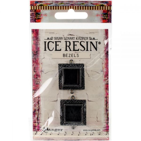 Ice Resin Milan Bezels Closed Back Square Small