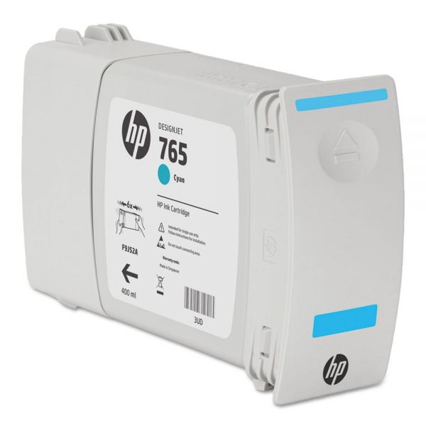 HP 765 Cyan Ink Cartridge (F9J52A)