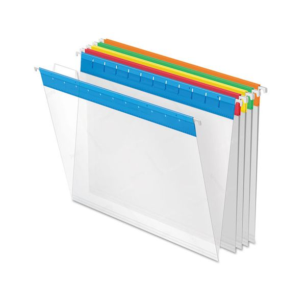 Pendaflex Poly Hanging File Folders, 1/5 Tab, Letter, Assorted Colors, 25/Box