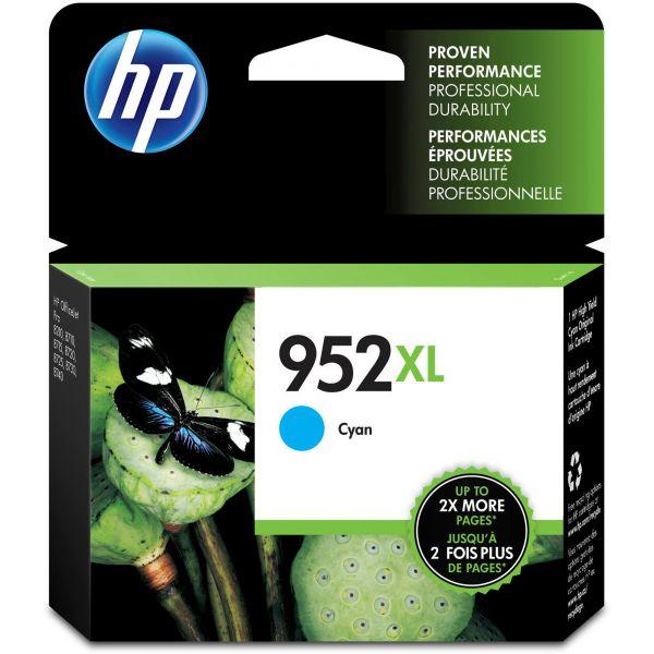 HP 952XL High-Yield Cyan Ink Cartridge (L0S61AN)