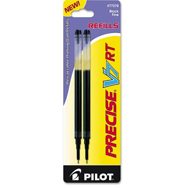 Pilot Refill for Precise V7 RT Rolling Ball, Fine Black Ink, 2/Pack