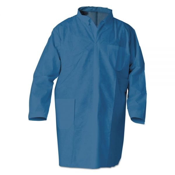 KleenGuard* A20 Breathable Particle Protection Professional Jacket, Large, Blue, 15/Carton