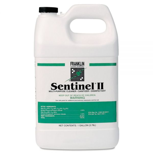 Franklin Cleaning Technology Sentinel II Disinfectant, Citrus Scent, Liquid, 1 gal. Bottles, 4/Carton