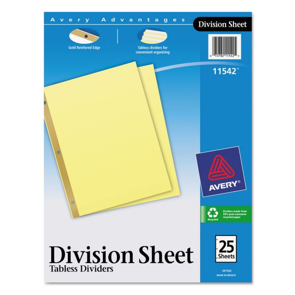 Avery Gold Line Sheet Dividers