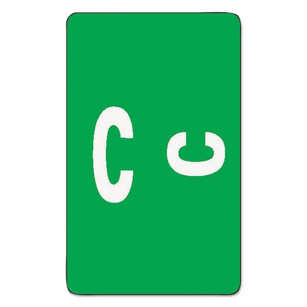 Smead Alpha-Z Color-Coded Second Letter Labels, Letter C, Dark Green, 100/Pack