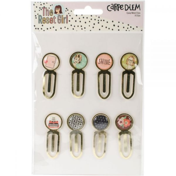 Reset Girl Epoxy Top Metal Clips 8/Pkg
