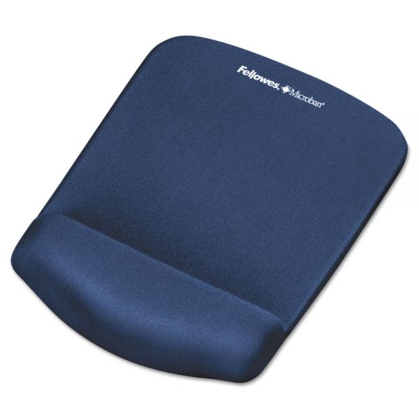 Fellowes PlushTouch Foam Mouse Pad With Wrist Rest