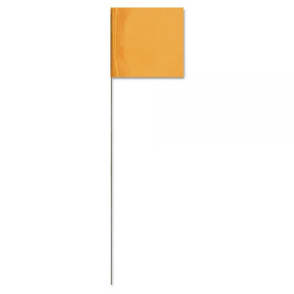 "Presco Stake Flags, 2.5 x 3.5-21"", OrangeGlo"