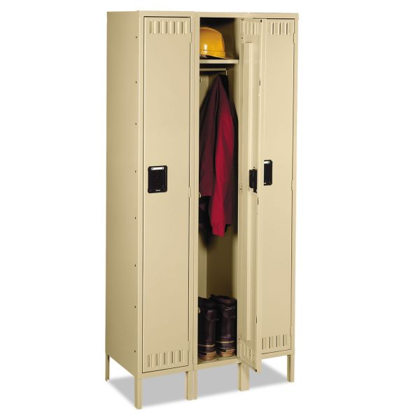 Tennsco Single Tier Three Wide Lockers w/ Legs