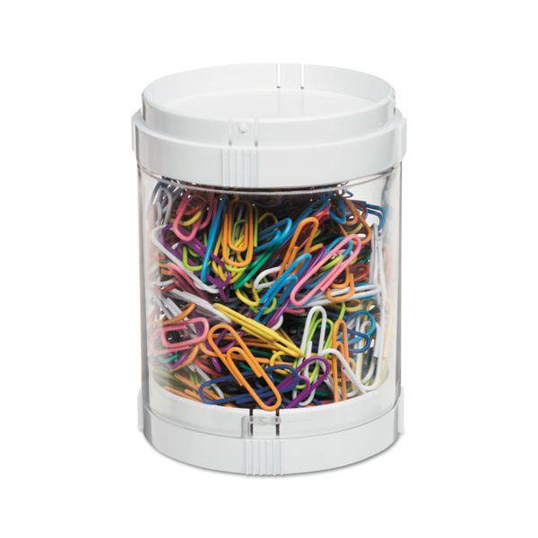 """deflecto Stacking Storage Oragnizer, 3"""" diameter x 3.89"""", White"""
