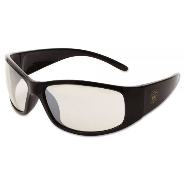 Smith & Wesson Elite Safety Eyewear, Black Frame, Indoor/Outdoor Lens