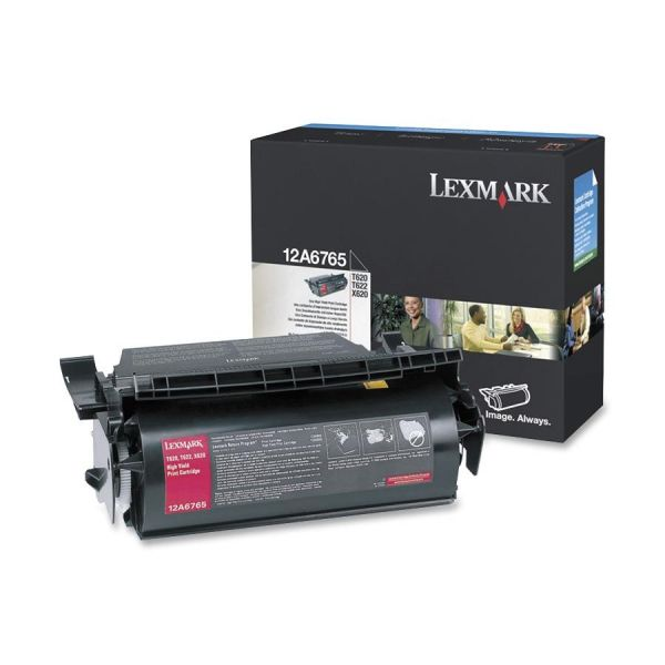 Lexmark 12A6765 Black High Yield Toner Cartridge