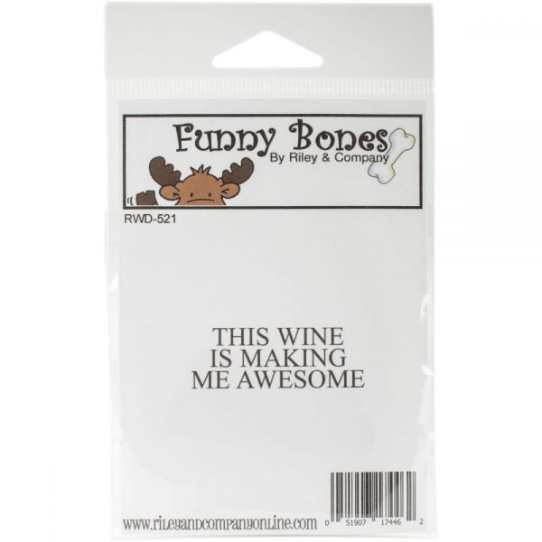 "Riley & Company Funny Bones Cling Stamp 2""X1"""