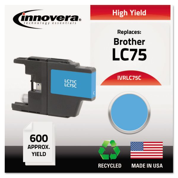 Innovera Remanufactured LC75C High-Yield Ink, Cyan