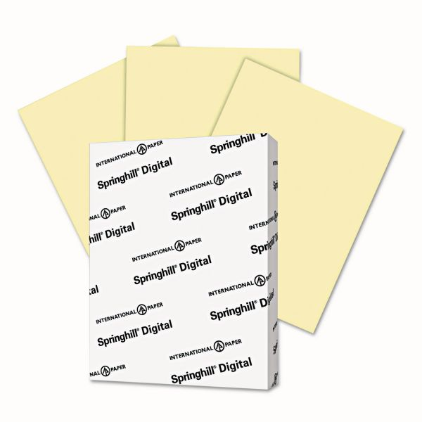 Springhill Digital Vellum Bristol Color Cover, 67 lb, 8 1/2 x 11, Canary, 250 Sheets/Pack