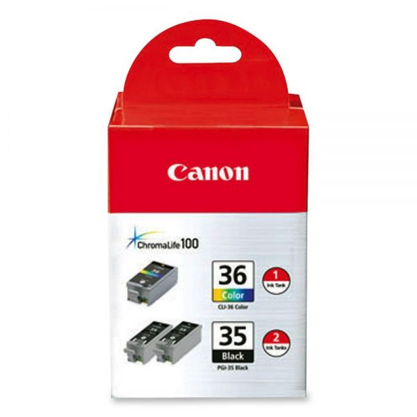 Canon PGI-35 Black/CLI-36 Color Combo Pack Ink Cartridges
