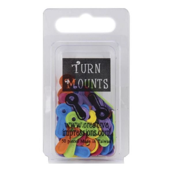 Painted Metal Turn Mounts 50/Pkg