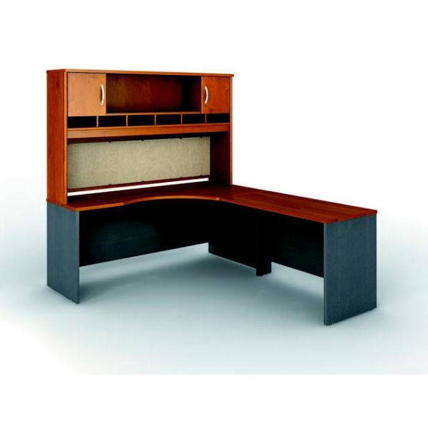 Bush Furniture Series C Professional Configuration - Natural Cherry finish