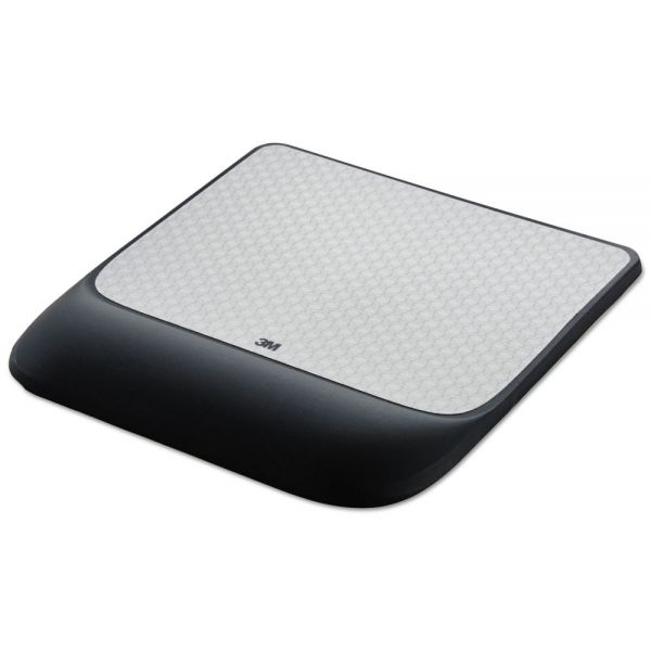 3M Mouse Pad w/ Precise Mousing Surface w/ Gel Wrist Rest, 8 1/2x9x3/4, Solid Color