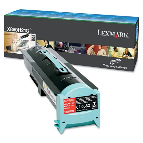 Lexmark X860H21G Black High Yield Toner Cartridge