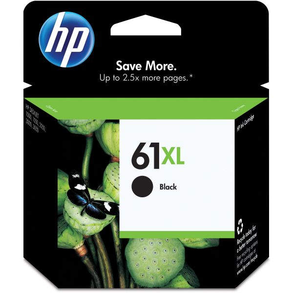 HP 61XL High Yield Black Ink Cartridge (CH563WN)