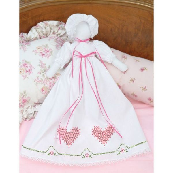 Jack Dempsey Stamped White Pillowcase Doll Kit