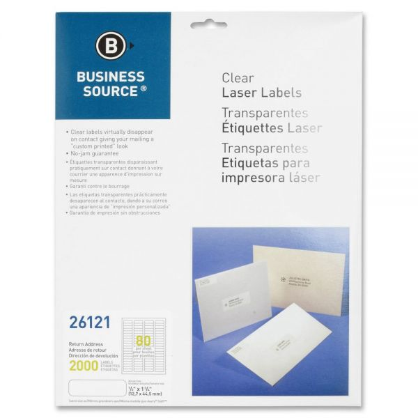 Business Source Clear Return Address Labels