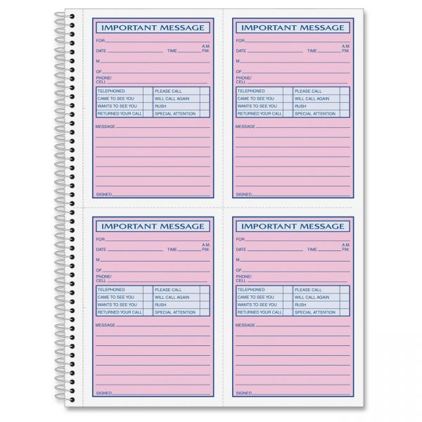 TOPS Carbonless Important Message Book