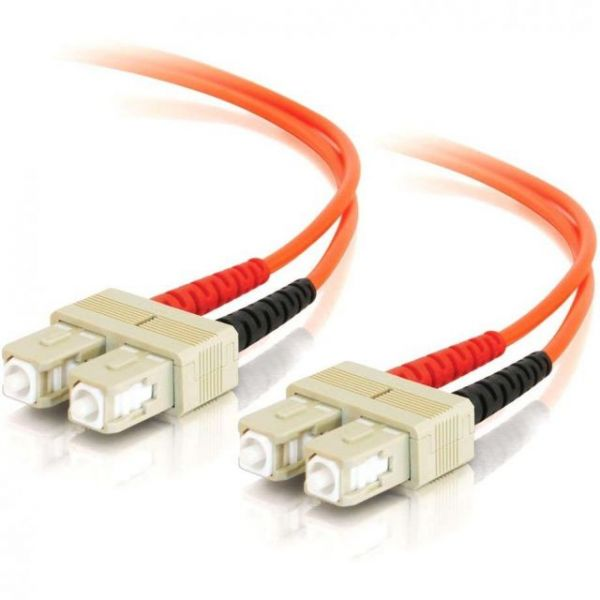 2m SC-SC 62.5/125 OM1 Duplex Multimode PVC Fiber Optic Cable - Orange