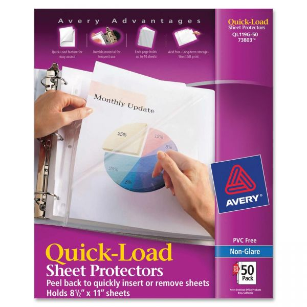 Avery Quick Load Top/Side Loading Sheet Protectors