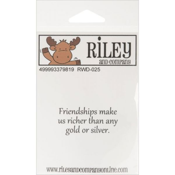 "Riley & Company Funny Bones Cling Mounted Stamp 2""X1"""