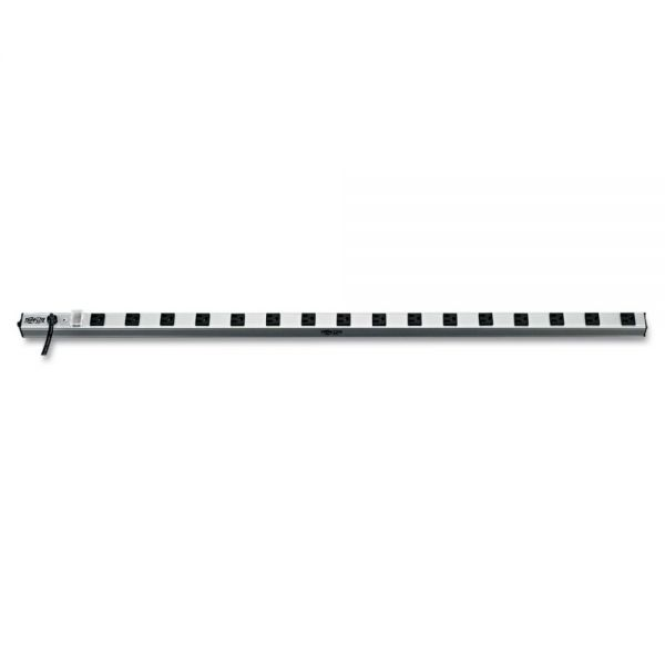 Tripp Lite Vertical Power Strip, 16 Outlets, 1 1/2 x 48 x 1/2, 15 ft Cord, Silver