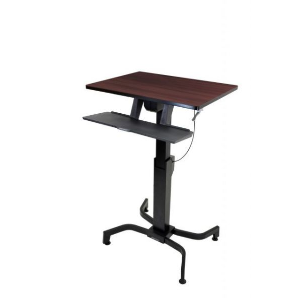 Ergotron WorkFit-PD, Sit-Stand Desk (Walnut)