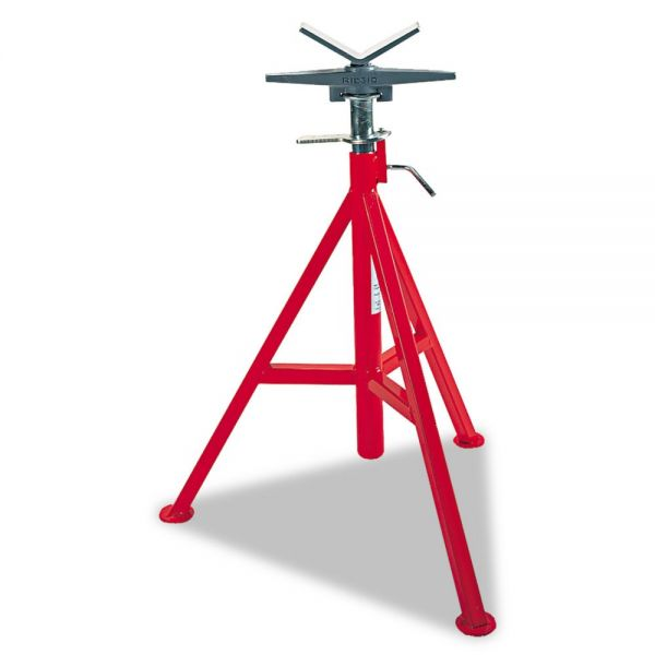 "RIDGID VJ-98 Low Pipe Stand, 20"" to 38"" High, Red"