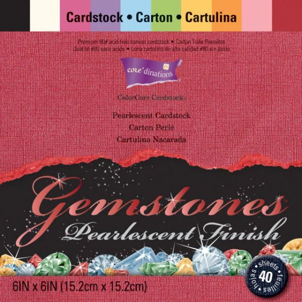 Core'dinations Gemstones Cardstock Pack